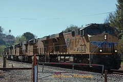 2015_02_24 8 unit stack train eastbound_05 (Walt Barnes) Tags: railroad train canon eos engine rail cargo calif container locomotive hdr freight topaz pinole trackside sd70m dieselelectric stacktrain es44ac 60d canoneos60d topazadjust eos60d wdbones99