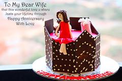 Happy Anniversary (saish746) Tags: wedding love cakes girl cake shop lady happy star cupcakes do bokeh chocolate anniversary champagne marriage husband celebration gift wishes wife wish starry pyaar pyar
