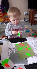 LIttle Ben making art
