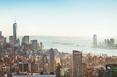 NYC (pfn.photo) Tags: nyc light sunset skyline cityscape skyscrapers manhattan towers megacity freedomtower oneworldtradecenter onewtc