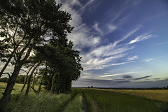 Summer Skies (ianandbarbara.bonnell@btinternet.com) Tags: uk sunset summer england sky clouds landscape cloudscape sthelens wigan merseyside billinge