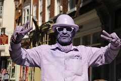 Purple Peace (The Eclectic Mix) Tags: street york people streetart hat sunglasses canon person purple yorkshire stranger eos7d nickfewings