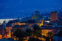 City of Rijeka (shpongleri) Tags: rijeka eve croatia hrvatska cro hr ri night skyscraper grain tank