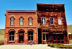 I.O.O.F. (BillsExplorations) Tags: california old abandoned barn vintage bench hotel mainstreet decay ghosttown weathered bodie saloon oddfellows ioof fraternalsociety benchmonday