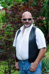 Henry-4x6-9371 (Mike WMB) Tags: bear leather goatee bald shades vest