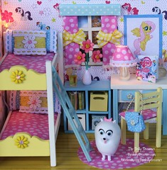 Do It Yourself Room (thedollydreamer) Tags: miniature diy bedroom doll room lightup doityourself dollhouse thedollydreamer bridgetdellaero mylittleponywallpaper