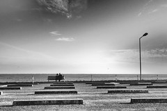 At the pier (wolcottsworld) Tags: island monochrome pier couple norderney deutschland meineinsel scene landing germany northsea streetphotography romantic nordsee ostfriesland
