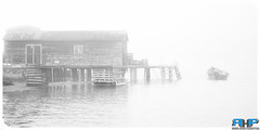 Newfoundland Foggy Fishing Stage II (Rodney Hickey Photography) Tags: newfoundlandvacation2016 rodneyhickey rodneyhickeyphotography rodneyhickeyphotographyanddesign rhp halifax adobe adobecs adobecreativesuite lightroom nikkor nikon d610 d7100 nikkorlens lowersackville middlesackville bedford dartmouth novascotia sackville ns canada photoshop portraiture landscape wwwrodneyhickeyphotographyca httpwwwrodneyhickeyphotographyca outport newfoundland labrador fish fishing stage wharf water atlantic ocean fog foggy day