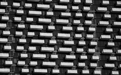 Balconies (DILLEmma Photography) Tags: balconies bw blackandwhite blackwhite monochrome structure pattern art symmetry shapes parallel collateral battleship geometric grid abstract lines figures