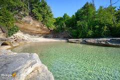 The clear waters of Lake Superior (Michigan Nut) Tags: beach nature water michigan sunny greatlakes upperpeninsula lakesuperior clearwater sparklingwater picturedrocksnationallakeshore munisingmichigan beaverbasinwilderness