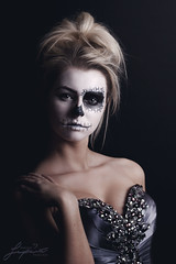 Voodoo Ball (painterphotography99) Tags: ball blonde gown skull facepaint corpsebride day dead gothic scary spooky emo portrait eerie horrorstory