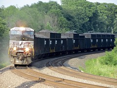 Norfolk Southern Chicago Line / MP 474 Westbound (codeeightythree) Tags: otisindiana otis indiana ns norfolksouthernchicagoline norfolksouthernrailroad coke coketrain hoppercars nshoppers hightops hightophoppers freight transportation