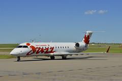 Air Canada Jazz C-GJZJ (V1 Aviation Photography) Tags: calgaryinternationalairport cyyc yyc aircanadajazz jazzair cgjzj canadair crj200er crj