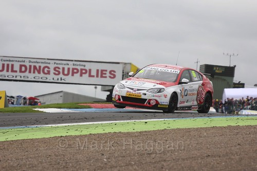 Josh Cook in race two during BTCC at Knockhill, August 2016