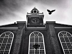 (bfsd78) Tags: iphone6splus iphoneography iphone sky drama bw blackandwhite architecture dutch noordwijk holland historic building church