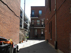Apartments in Yard (Vanishing Montral) Tags: history villedemontreal montreal histoire photography art architecture demolition disappearinghistory newconstruction