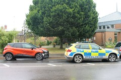 Leicestershire Police attend a three car collision Catmose Street Oakham Rutland (@oakhamuk) Tags: leicestershirepolice attend three car collision catmosestreet oakham rutland martinbrookes