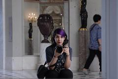 The girl behind the camera (Erla Morgan) Tags: erlamorgan justme me girl camera louvre