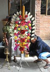 Ceremonial Candle Oaxaca Mexico (Ilhuicamina) Tags: velas candles mexico mexican oaxacan zapotec teotitlan vivianaalavez