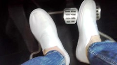 Pedal pumping in old Boden slip-on plimsolls (eurimcoplimsoll) Tags: plimsollsplimsolesgymshoespumpssliponelasticold pedal pumping sneakers trainers boden gusset gymnastic