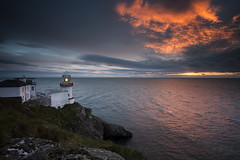 Wicklow Lighthouse (Sean O'Moore) Tags: wicklow lighthouse sun rise sea seascape clouds nikon d800 1635