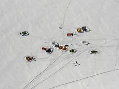 Accampamento sul ghiacciaio (mimu81) Tags: valdaosta altavia1 mountains alps alpi trekking hiking italy valferret montebianco montblanc snow white ice glacier