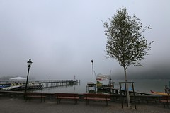 Morning fog in Strobl (tom.gian) Tags: austria salzkammergut wolfgangsee strobl fog foggy