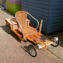 Posh go-kart complete with picnic hamper. (The original SimonB) Tags: gokart felixstowe suffolk august 2016 posh picnic hamper sony xperiaz5compact instagram explored