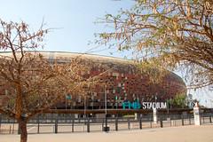 The FNB Stadium, venue for the 2010 FIFA World Cup Final (amanda & allan) Tags: southafrica johannesburg joburg jozi soweto fnbstadium mandela worldcup fifa 2010