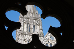 Salisbury Cathedral (Keith in Exeter) Tags: cinquefoil architecture building tower spire salisbury cathedral wiltshire ornate earlyenglish gothic silhouette