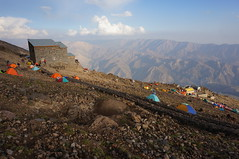 Bargah sevom base camp.Mt.Damavand,Iran (Goran Joka) Tags: bargahsevombasecamp bargahsevomcamp3 bargahsevom mountainhut oldshelter mountainshelter alborzmountain mtdamavand damavand volcano iran mountain mountaineering hiking nature landscape outdoor sky tent