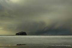A Wee Drop Of Rain (ajp~) Tags: seacliff northberwick eastlothian firthofforth scotland bassrock isleofmay sea beach water coast coastline sand clouds sky rain landscape longexposure storm canon 6d canon24105mmf4l alanjohnstone