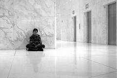 Nico (Ian Muttoo) Tags: dsc72741edit nuitblanche 2016 nuitblanche2016 toronto ontario canada gimp ufraw bw nico firstcanadianplace eunoiaii lisapark marble reflection reflections 16 17 18 elevator bank