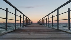 Towards the ocean (nielsenjeanette449) Tags: ballehage aarhus beach strand bro bridge evening aften denmark danmark sunset solnedgang ocean hav blger waves autumn efterr