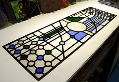 Transom stained glass leadlight (RDW Glass) Tags: transom stainedglass leadlight salvage victorian etched glass glasgow rdwglass nightclass classes