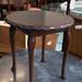 Nest of three oval mahogany table â¬70