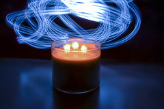 stoale_p3_s1 (samanthatoalephotography) Tags: stilllife candle light painting lightpainting blue flame fire