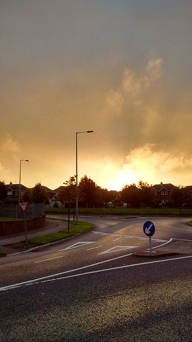 Roundabout sunset