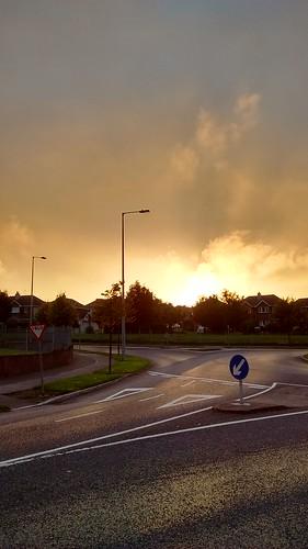 Roundabout sunset