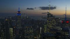 Prime Lights (gutan700) Tags: df handshot nikontravel nikon empirestatebuilding night city manhattan bluhours lights york new ny rockfeller