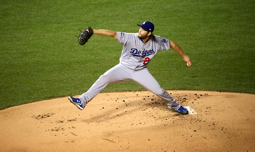 Dodgers starter Clayton Kershaw delivers by apardavila, on Flickr