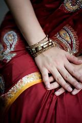 DSCF9386 (tzeyangtan) Tags: deepavali indian traditional red gold details smiles