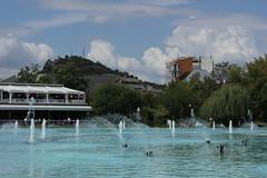 The Lake, Tsar-Simeonova gradina, Plovdiv (nikolaylozanov8006) Tags: outdoor lake water sky plovdiv bulgaria thrace foutain tree building architecture hill clouds