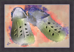 2016 - chaussures - aquarelle (bDom [+ 36.000 photos/digital art for blog]) Tags: chaussure toons shoes chaussures aquarelle art watercolor frame bdom digital dessin sketch painting peinture recherche