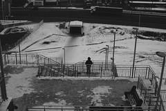 Stairs (blaskovski_ph) Tags: stairs people old waiting snow russia fujifilm cheap lens barnaul ground road