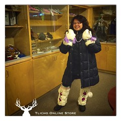 Sharing a photo of Colinda Blondin's beautiful #mukluks. Wishing all our visitors a Merry Christmas & a happy New Year! #Tlicho (Tlicho Online Store) Tags: mukluks tlicho