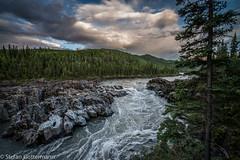 Fraser Falls, Stewart River, Yukon (Yukonowsky) Tags: summer cloud water rocks north yukon remote canoeing klondike borealforest stewartriver fraserfalls