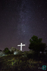 Borderlines (Gous It) Tags: longexposure sky night stars nikon long exposure cross earth religion science greece galaxy astrophotography astronomy universe milky anatoli milkyway d3300