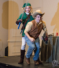 Dismount! (Kezzsim) Tags: horse hat ride cosplay neworleans competition southern link shield epona mlp mylittlepony thelegendofzelda braeburn mastersword derpyconsouth