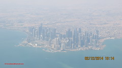 Doha City from Airplane after take off from Hamad International Airport - State of Qatar (Feras.Qadoura1) Tags: city airport state international hamad doha qatar       othh
